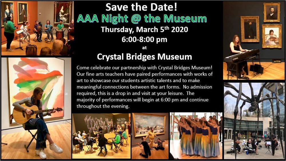 AAA Night @ the Museum Thursday March 5th 6-8 pm5th