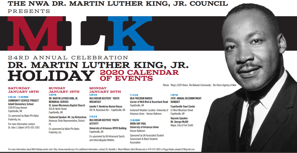 NWA Martin Luther King, Jr Holiday Events