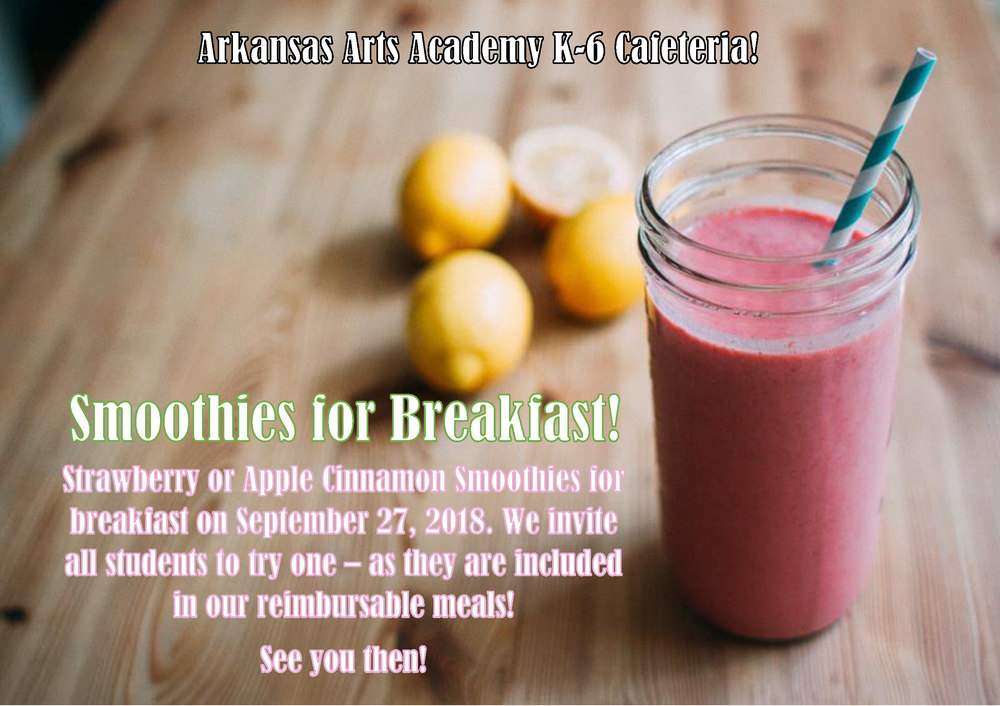 Smoothies for Breakfast - September 27th