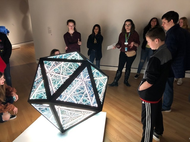 Science Students Study Crystals at Crystal Bridges Museum