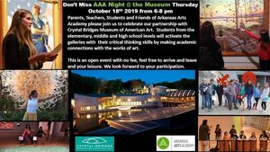 Save the Date!  AAA Night @ the Museum 10.18.19 6-8 pm