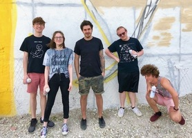 AAA Students Assist International Artist with Mural