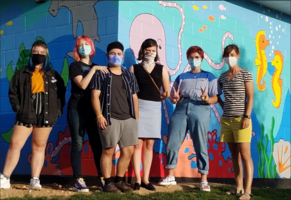 Art Students Mural Makes a Big SPLASH in Pea Ridge!