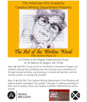 Creative Writing Featured at Art on the Bricks May 9th