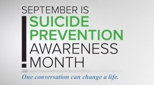 Suicide Prevention Awareness Activities for Sept 9th-14th