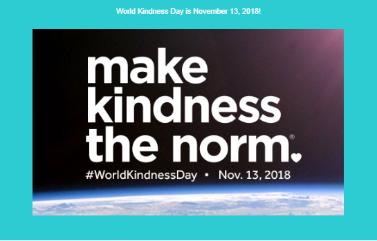 World Kindness Day Nov 13th 2018