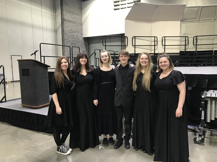 These five students were chosen to sing with the Arkansas All State Choir February 14-16