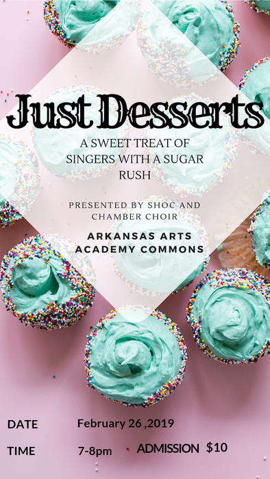 Just Desserts, Tuesday, February 26, 7pm