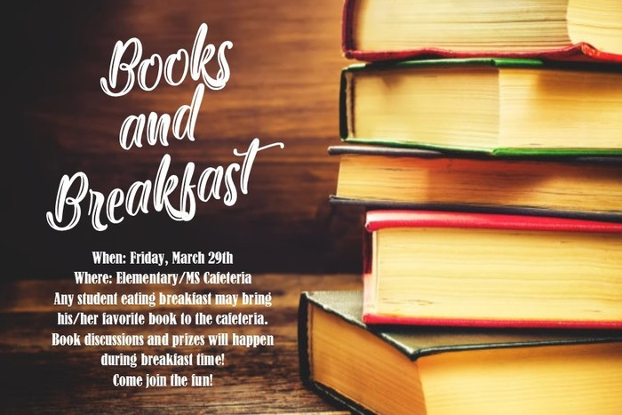 Books and Breakfast March 29th!