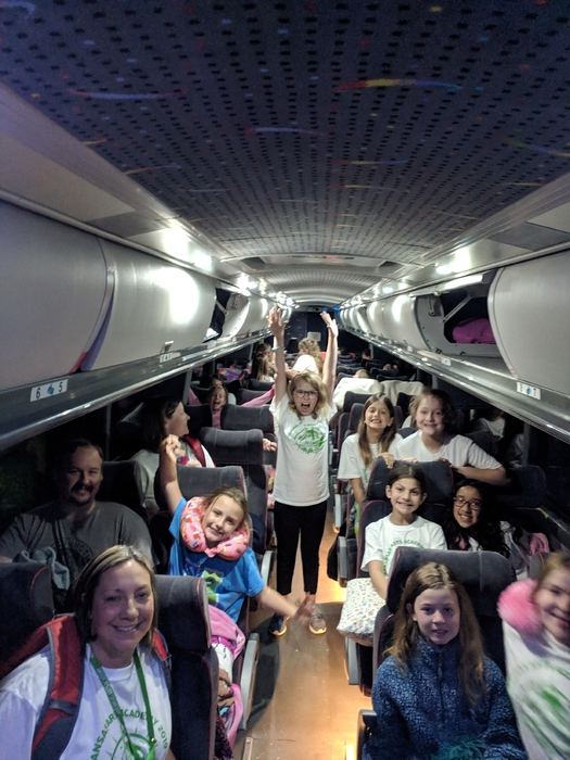 Space Camp girl bus