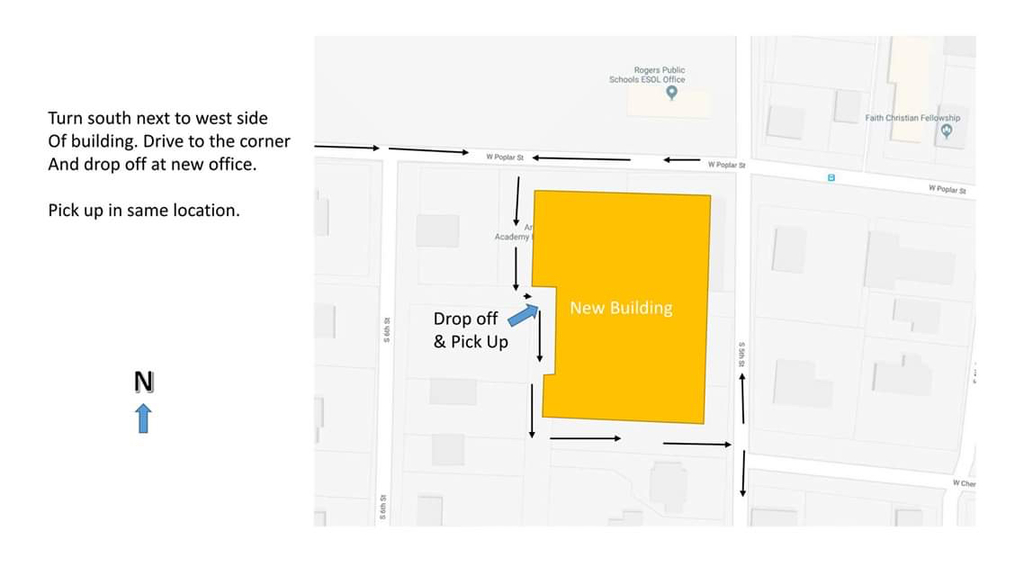 HS Drop-off and Pick-up Map.