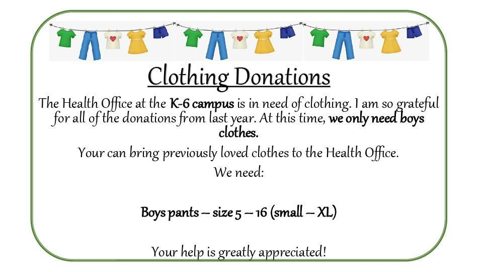 AAA K6 Clothing Donations
