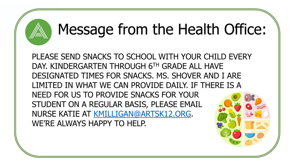 Message from the Health Office: