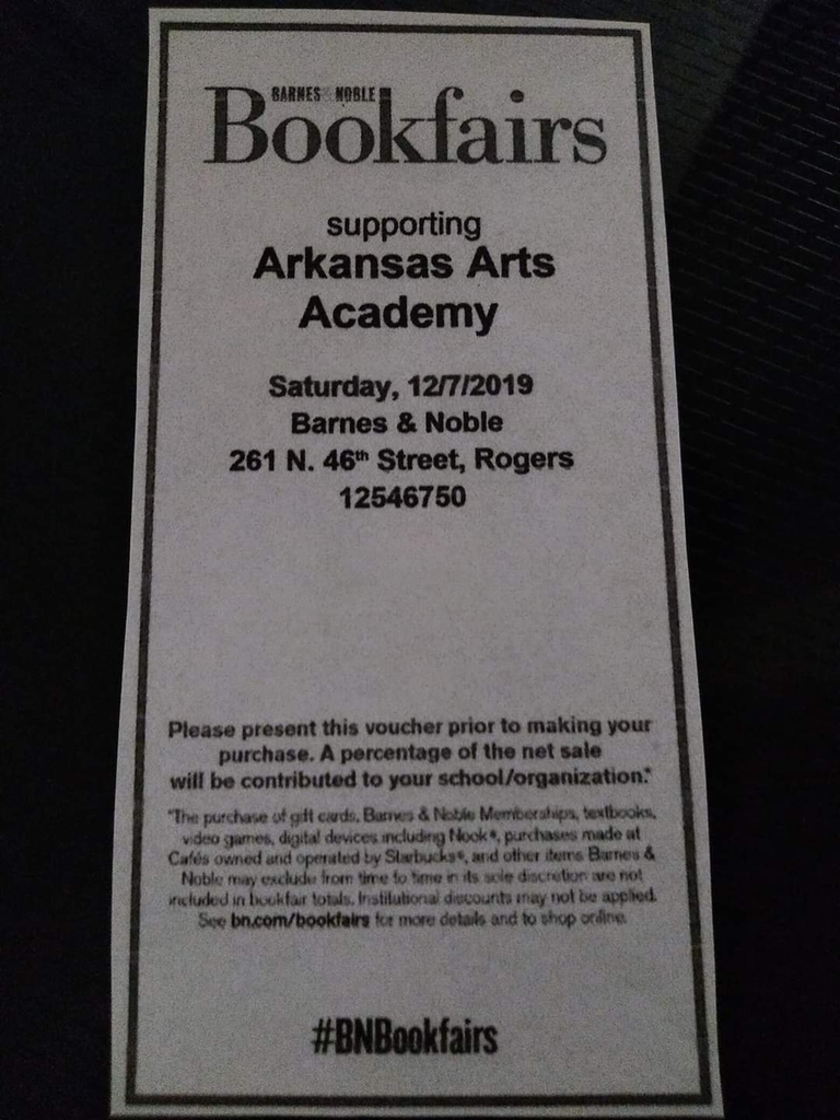 Barnes & Noble Fundraiser coupon